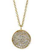 Stardust 18k Diamond Disc Pendant Necklace
