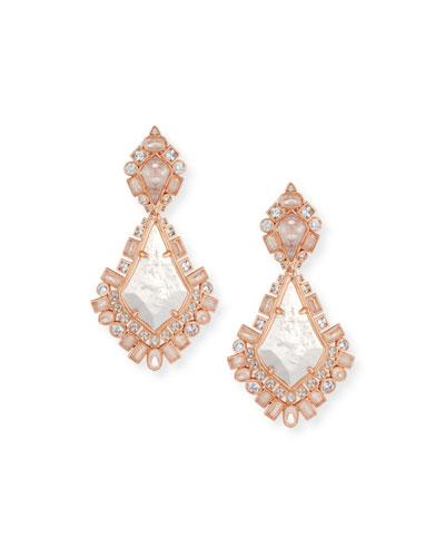 Pernylle Statement Earrings in Rose-Tone Plate