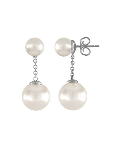 Simulated Pearl Chain-Drop Earrings