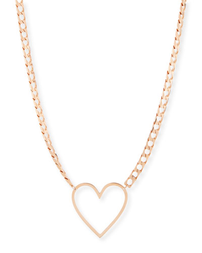 18k Yolo Heart Necklace