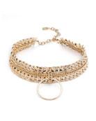 Zig Chain Choker Necklace