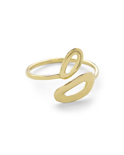 Cherish Mini Mid-Finger Open Ring, Size 4