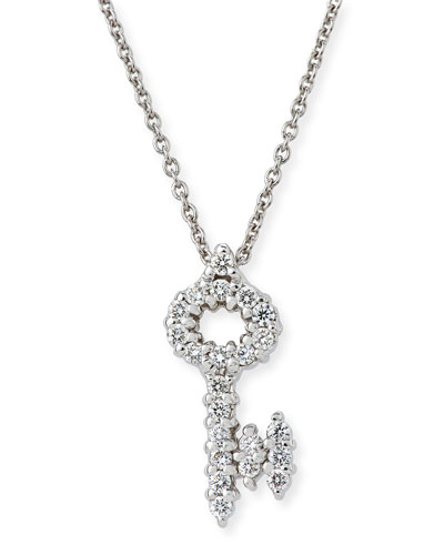 Tiny Treasures Diamond Key Pendant Necklace