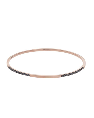Reckless 14K Rose Gold & Diamond Bangle
