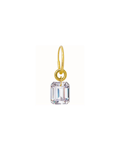 Drilled Crystal Single Earring, 1.1