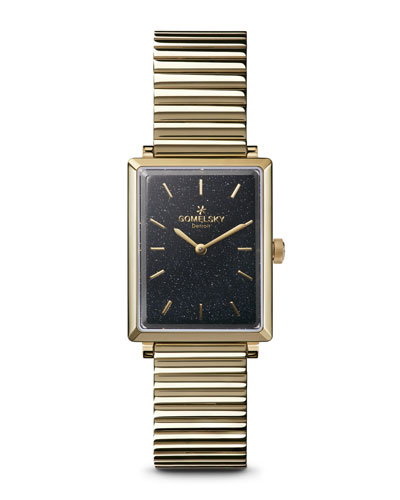 The Shirley Fromer 32mm Golden Bracelet Watch