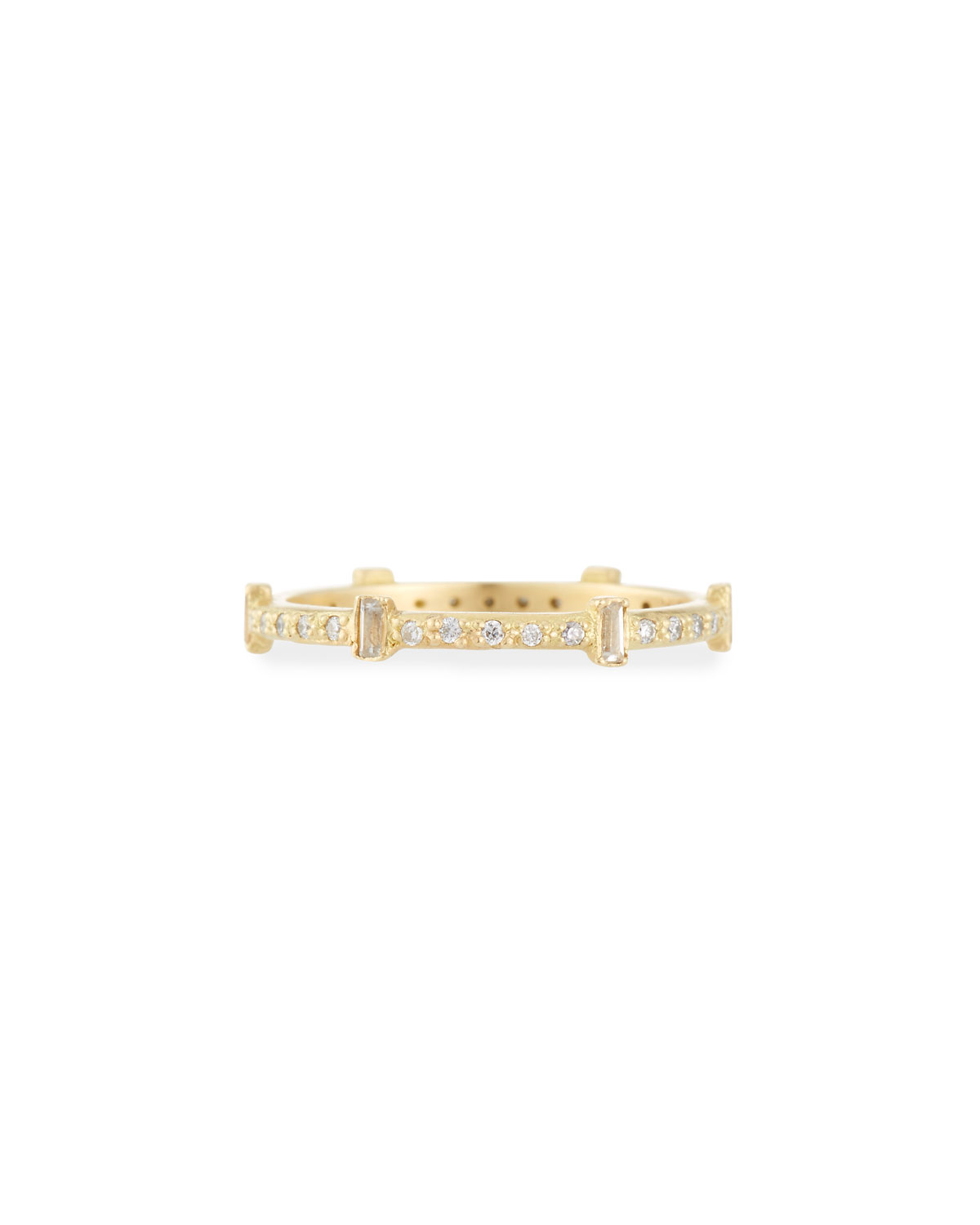 Old World Sueno Six-Sapphire Baguette Ring with Diamonds