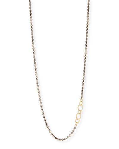 Old World Blackened Chain Necklace with Champagne Diamonds