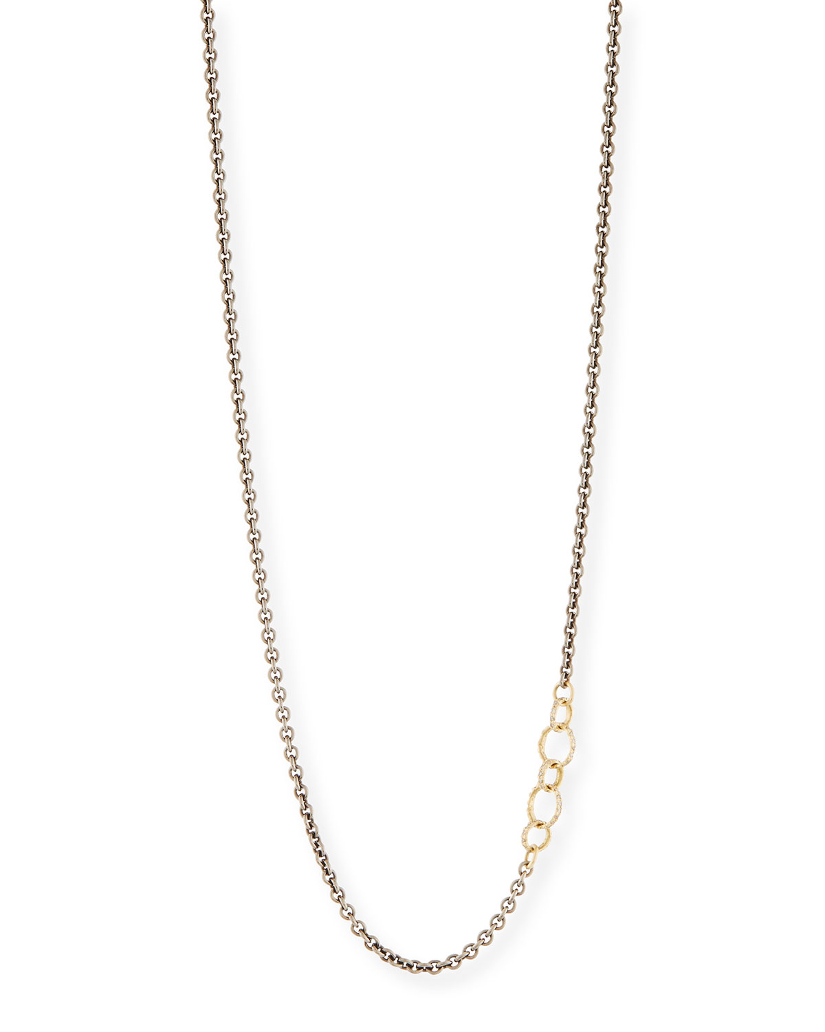 Old World Chain Necklace with Champagne Diamonds