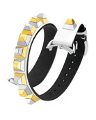 17mm Dolce Stud White Leather Watch Strap