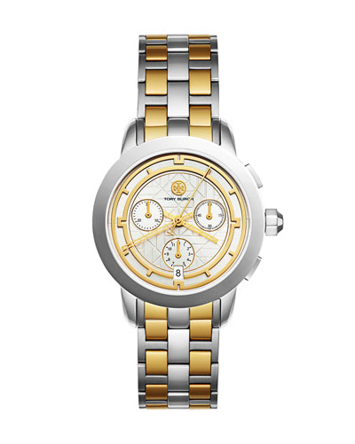 The Tory Classic Two-Tone Chronograph Watch