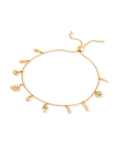 Multi-Charm Cubic Zirconia Bracelet