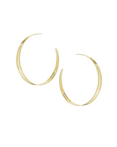 Large Double Flat Hoop Earrings