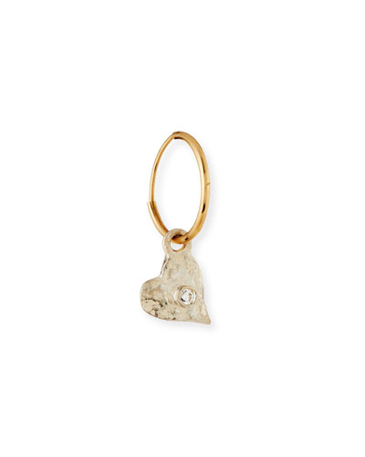 Tiny Apollo Single Earring with Crystal