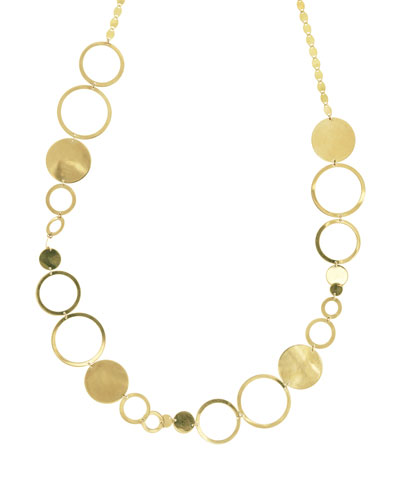 Multi-Disc Short Station Necklace