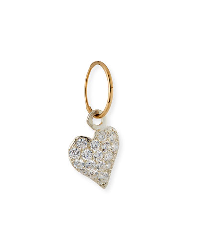 Apollo Heart Single Earring with Crystals
