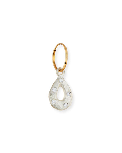 Tiny Old Money Drop Single Earring with Stones