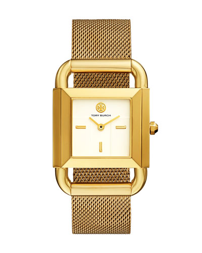 The Phipps Golden Mesh Bracelet Watch