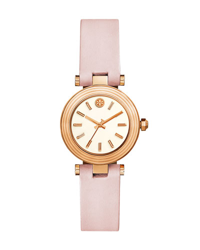 Classic T Leather Strap Watch, Golden/Blush