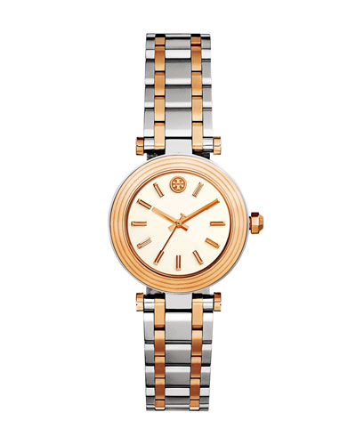 The Classic T Two-Tone Bracelet Watch, Silvertone/Rose-Golden