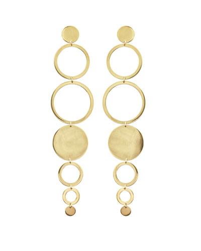 Multi-Circle Linear Drop Earrings