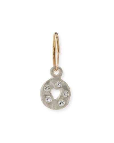 Mini Money Single Earring with Crystals