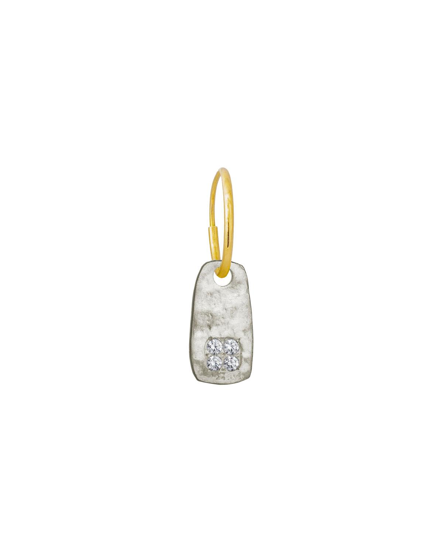 Medium Stele Single Earring with Stones