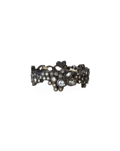 New World Cluster Ring with Diamonds & White Sapphires
