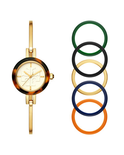 The Gigi Bangle Watch with Interchangeable Top Rings