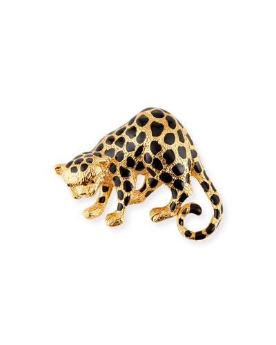 Cheetah Statement Brooch