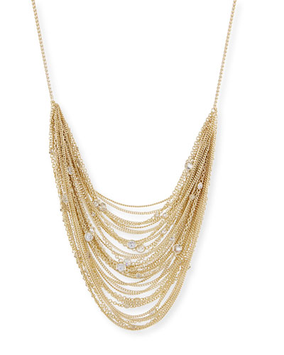Anastasia Golden Multi-Row Chain Necklace