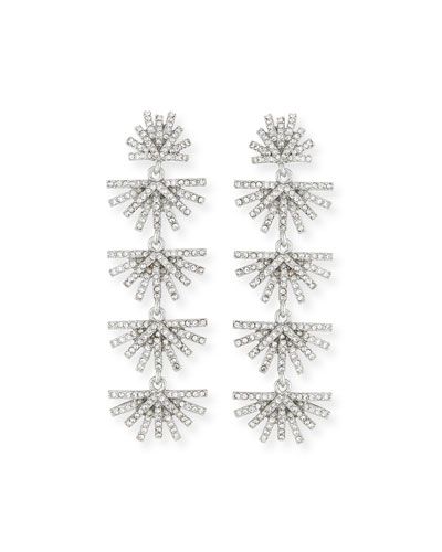 Crystal Palm Drop Earrings