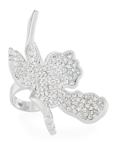 Crystal Lily Statement Ring
