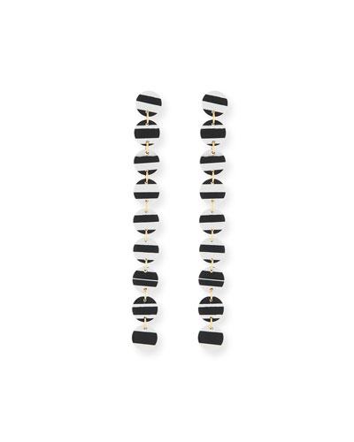Striped Circle Garland Earrings