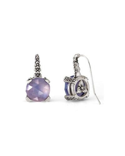 Faceted Amethyst Quartz Drop Earrings