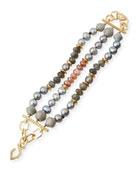 Three-Strand Pearly Beaded Bracelet