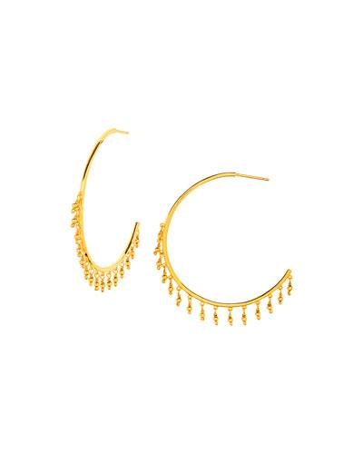 Sol Beaded Hoop Earrings