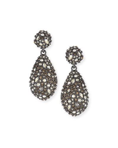 Pavé Teardrop Crystal Earrings