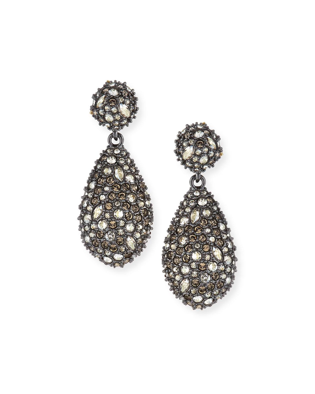 Pavé Teardrop Crystal Earrings