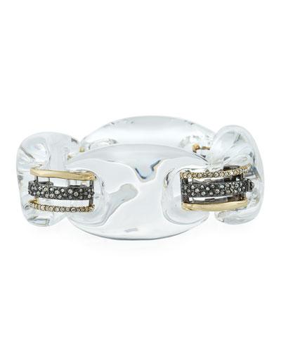 Clear Lucite Soft Link Bracelet