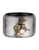 Baroque Pearlescent Burst Cuff Bracelet