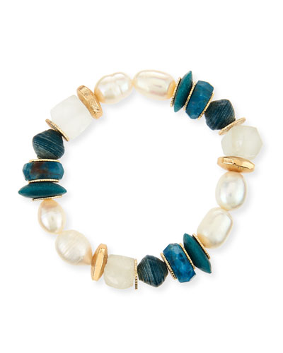 Akola Pica Beaded Garnet Stretch Bracelet u7fAi4