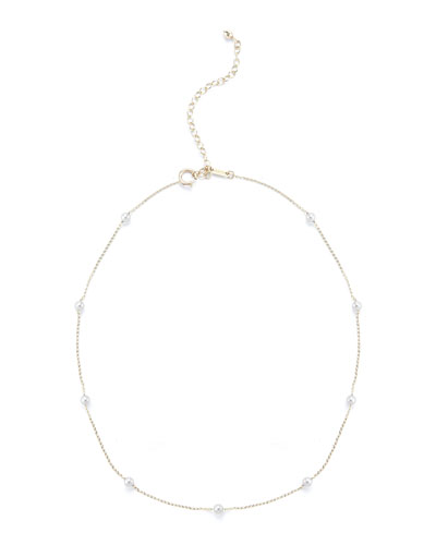 Pearl Station Chain Choker Necklace