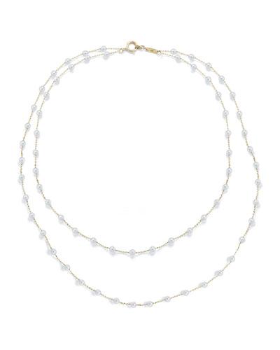 a1a52b8da5f710 Quick Look. Mizuki · Two-Row Akoya Pearl Necklace ...