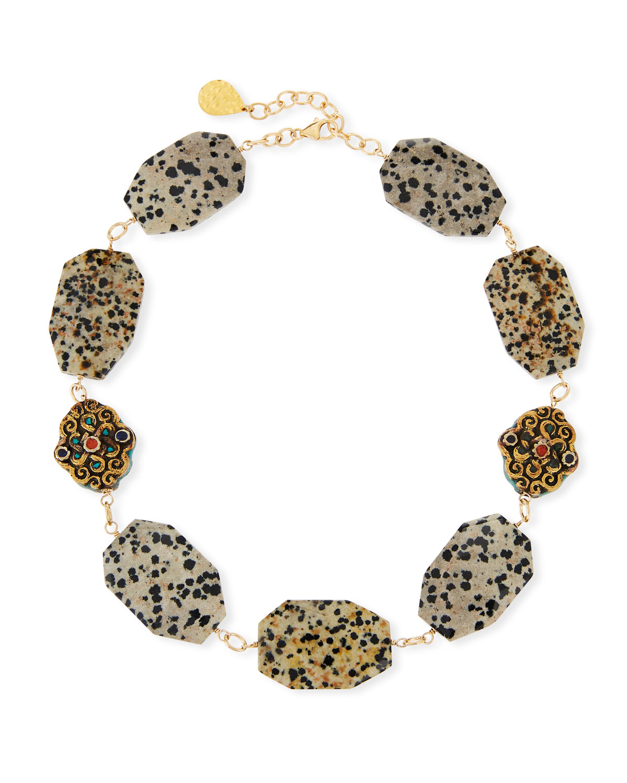 Animal-Print Choker Necklace