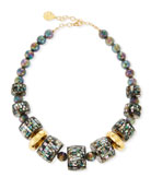 Pearlescent & Labradorite Statement Necklace