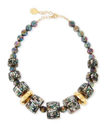 Pearlescent & Labradorite Statement Necklace