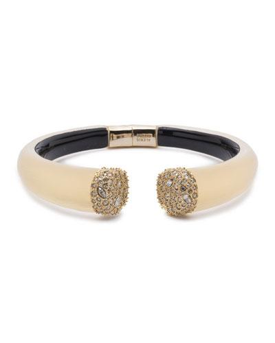 Pave Crystal Break Hinge Bracelet
