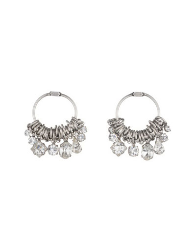Denman Crystal Hoop Earrings