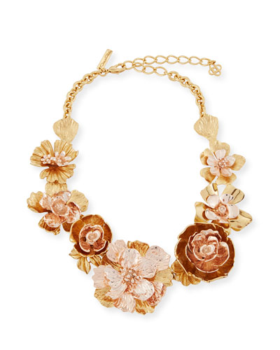 Bold Flower Statement Necklace